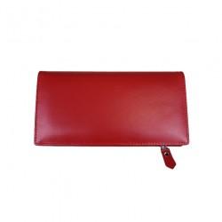 Portofel din piele naturala B01 Red