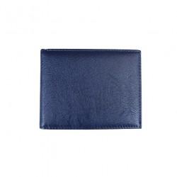 Portofel din piele naturala model slim L-20022 Blue