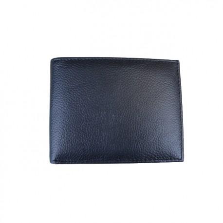 Portofel din piele naturala model slim L-20022 Black