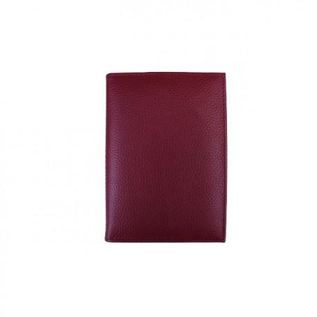 Portofel pentru acte din piele naturala B09 Red