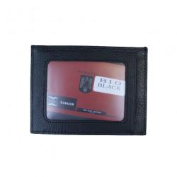 Portofel Slim Pentru Carduri Din Piele Naturala B10 Black