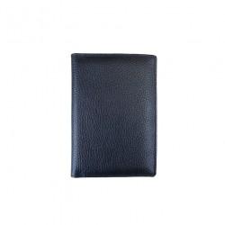 Port pasaport Din Piele Naturala B11 Black