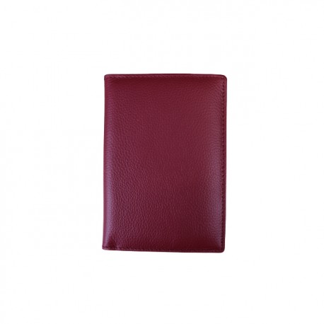 Port pasaport Din Piele Naturala B11 Red