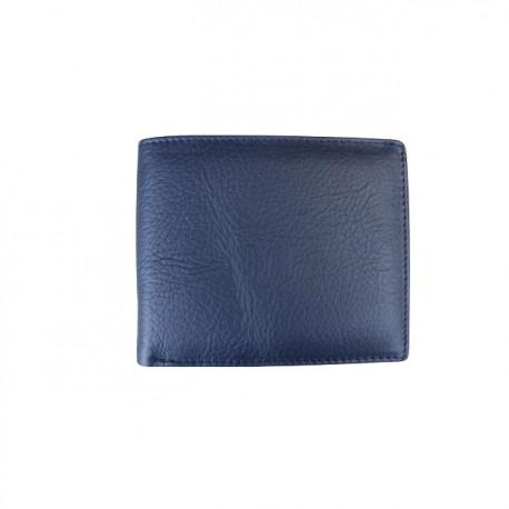 Portofel din piele naturala F03 Dark Blue