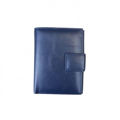 Portofel din piele naturala J017 Dark Blue