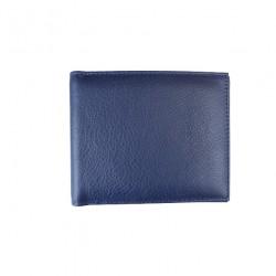 Portofel slim din piele naturala F071 Dark Blue