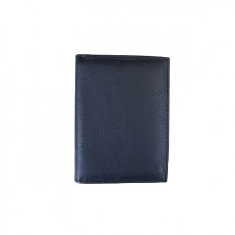 Portofel din piele naturala model slim tip carte F061 Black