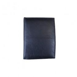 Portofel din piele naturala slim tip carte F081 Black