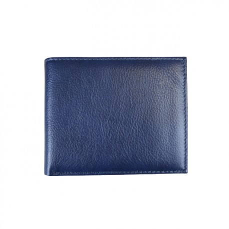 Portofel din piele naturala slim L20026 Blue