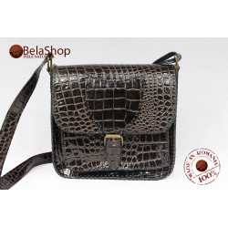 GEANTA SOFIA DARK BROWN CROCO