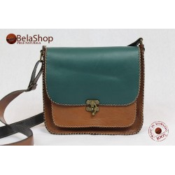 GEANTA SOFIA BROWN&GREEN KEY