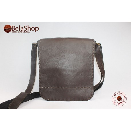 GEANTA TOMMY DARK BROWN SOFT L