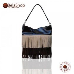 GEANTA MC11- Three Color Brown Fringe